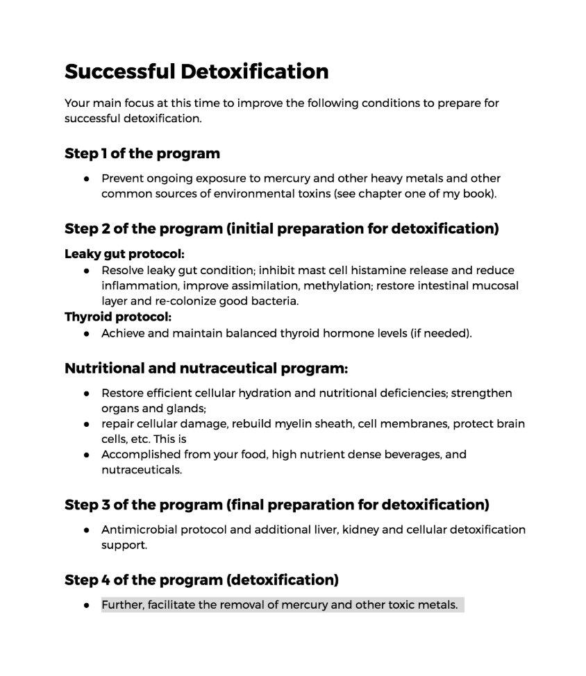 Heavy Metal Detox Protocol